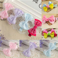 12PCS Kids Girl Baby Headband Toddler Lace Bow Flower Hair Band Accessories Lot