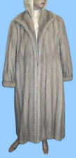 FLOOR LENGTH size 14 or Large GENUINE SAPPHIRE MINK FUR COAT - RARE AND PRIZED!