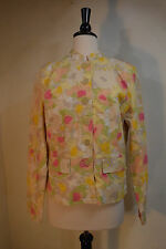 Chadwicks  Jacket Coat 6 Button  Front Abstract Floral Print  Women's Size 10