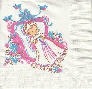 3 Cocktail Papier Servietten Napkins (306)  Baby in Wiege