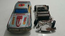 VINTAGE FORD MUSTANG MACH 1 STUNT CAR TOY TPS JAPAN TIN VEHICLE BATT. OPERATED