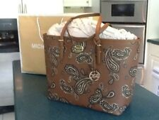 Michael Kors Emry Admiral LG Travel Carryall Tote Bag Paisley Luggage NWT wow!