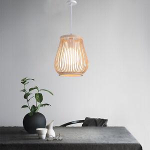 Bamboo Wicker Rattan Shade Pendant Light Fixtures Hanging Ceiling Lamp