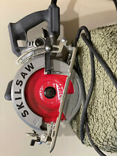 Skilsaw SPT77W 15A Electric 7-1/4'' Aluminum Worm Drive Circular Saw with Blade