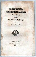 1835 - Memoria sulle negoziazioni che si fanno nella borsa di Napoli