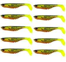 10 70mm Soft Plastic Fishing Lures Ripple Shad Fire Tiger Bass Flathead Lure