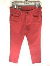 New Abercrombie & Fitch Mens Sz 31X32 The A&F Skinny Jeans Red Button Fly NWT