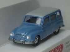 Wiking Auto Union 1000 Universal, blau mit weißem Dach - 0123 01 - 1:87