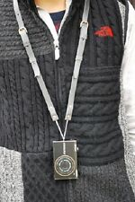 """ROBERU Leather Compact Camera Strap """" NAVI"""" Hand made from Japan Nw"""