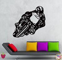 Wall Stickers Vinyl Decal Bike Biker Extreme Sport Speed Racing  (z2125)