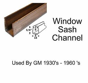 Universal Window Sash Channel