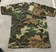 Vintage NWT Woodland Camo Plus Camouflage Tee Shirt Realtree New L Large