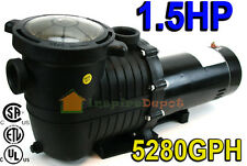 1.5 HP 5280GPH In-ground Swimming Pool Pump w/ Strainer UL LISTED Single Speed