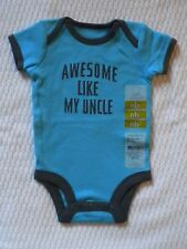 New with Tags Carters Boys Newborn Size Top Shirt Awesome Like My Uncle