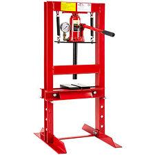 Pressa da banco idraulica strettoio da officina manuale 12 ton con manometro
