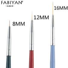 3pcs/set Nail Art Liner Painting Pen 3D Tips DIY Acrylic UV Gel Brushes Drawing