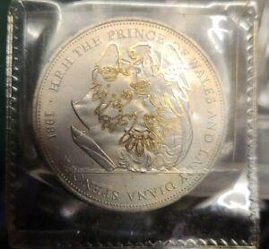 Charles and Diana Di Royal Wedding Commemorative Crown coin 1981 barclays bank