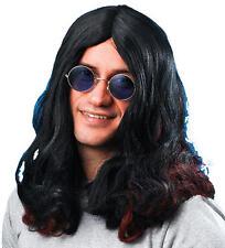Long Black Wig Ozzy Osbourne Fancy Dress