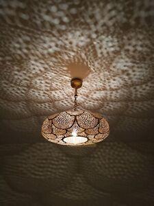 Ceiling Pendant Lamp Brass Moroccan Fixture Lighting Decor