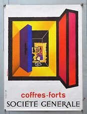 Affiche originale années 70 - SOCIETE GENERALE -Coffres forts - Par AURIAC