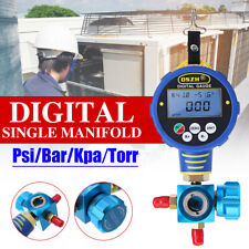 Single Valve Refrigerant Digital Vacuum Pressure Gauge Psi Bar Torr With Battery