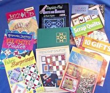Quilter 10 Piece Book Booklet Lot Patterns Instructions Samplers Quilt Projects