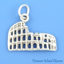 COLISEUM COLOSSEUM ROMAN ROME  ITALY .925 Solid Sterling Silver Charm Pendant