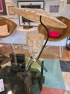 Nice Vintage 50s Mid Century Modern Metal reflector Lamp Fiberglass Atomic Era