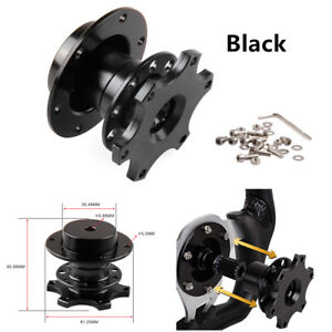 UNIVERSAL RACING CAR AUTO QUICK RELEASE SNAP OFF STEERING WHEEL HUB ADAPTER KIT