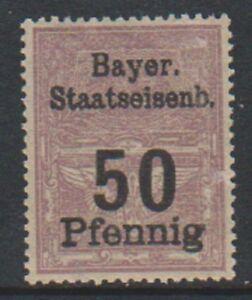 Bavaria - 50pf Lilla ( Ferrovia Bollo Fiscale) Francobollo - Nuovo senza