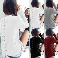 Fashion Women Long Sleeve Loose Sweater Knitted Cardigan Coat Jacket Outwear Top