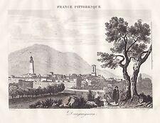 (Côte d'azur) Département du VAR, 1835, carte et gravures