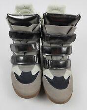 "High Top Hidden 3"" Wedge Sneaker, Xhilaration ""marant"" /Grey/ Silver Size 8 Shoe"