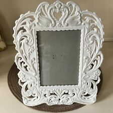 """San Francisco Music Box Ornate White Swans Picture Frame """"You Loved Me�"""