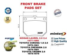 FOR NISSAN LAUREL 1977-80 TOYOTA CORONA CRESSIDA CROWN 1974-ON FRONT BRAKE PADS