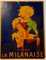 La Milanaise locandina in cartoncino pubblicitario