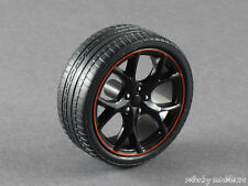 1/18 Ebbro Honda Civic Type R FK2 - Satz Felgen mit Reifen - schwarz/rot 141588