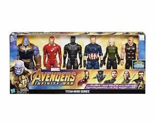 New Marvel Avengers Infinity War Titan Hero Series 6 Pk Action Figure Set 21B