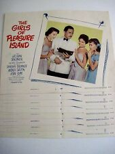 """Vintage Set of (8) 1953 Movie Lobby Cards for """"The Girls of Pleasure Island"""" *"""