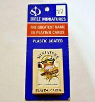 Vintage Hoyle Miniature Playing Cards Plastic Coated Birds New Sealed NIP NOS