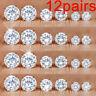 12Pairs/Set Crystal Zircon Stainless Steel Earrings Sets Women Ear Stud Jewelry