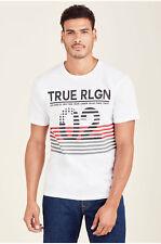 True Religion Men's Inside Flag Short Sleeve Crew Neck Tee T-Shirt