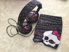 Sakar Monster High Printed Plush Headphones 11648 And Pouch Lot