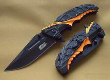 Couteau EDC Mtech A/O Lame Acier Carbone/Inox Manche BLACK/ORANGE MTA957BO