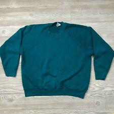 VTG Fruit of the Loom Teal Crewneck Sweatshirt Women's L D33