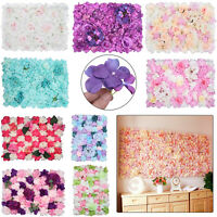 Artificial Rose Flower Wall Panels Backdrop Bouquet Wedding Party Home Reception