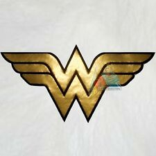 "Wonder Woman Big Logo Embroidered Patch Super Powers Gold 11"" Comic Friends JLA"