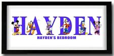MICKEY MOUSE CLUBHOUSE Personalised Name Print Art - High Quality Frame Included