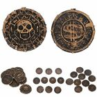 10pcs Pirate Treasure Plastic Fake Coins Gift Game Currency Party Supply Props