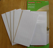 White sticky pads, double sided pre cut permanent foam pads, pack 320 SupaFix